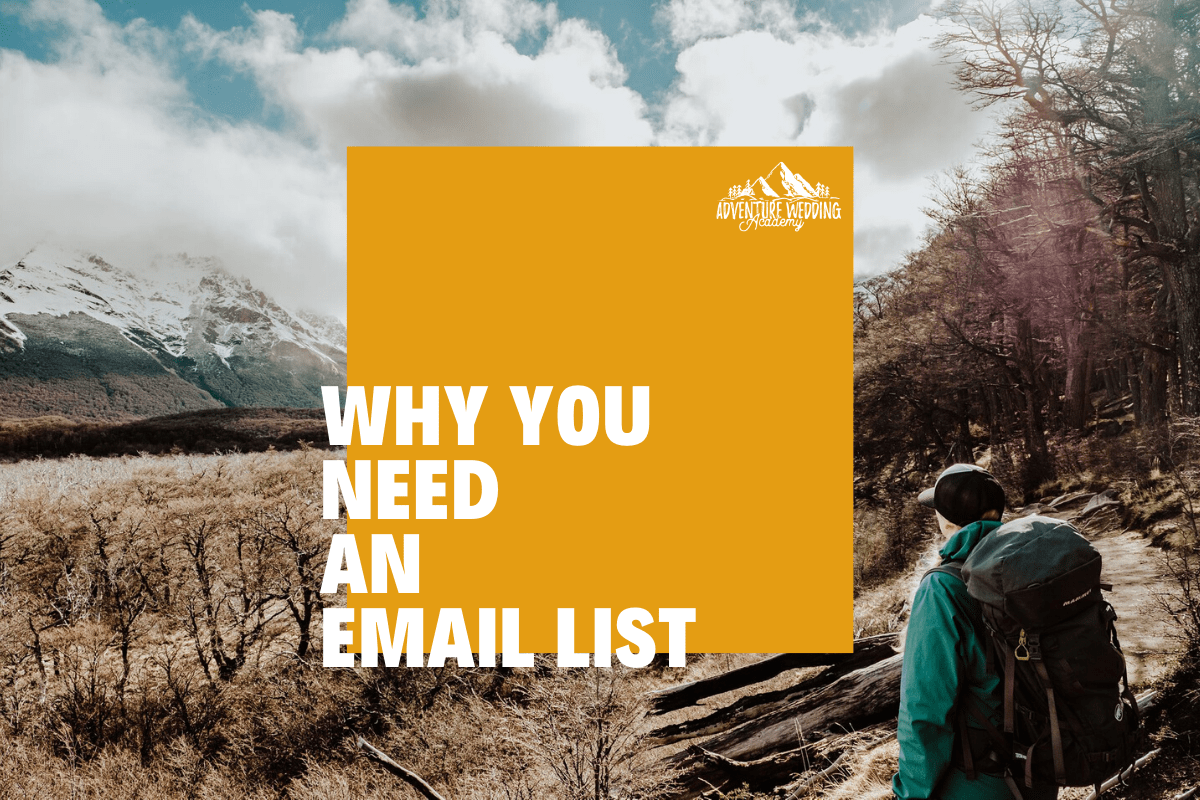 Why you need an email list